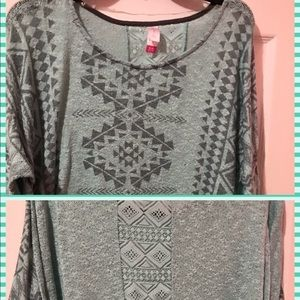 Sweaters - Blue green sweater